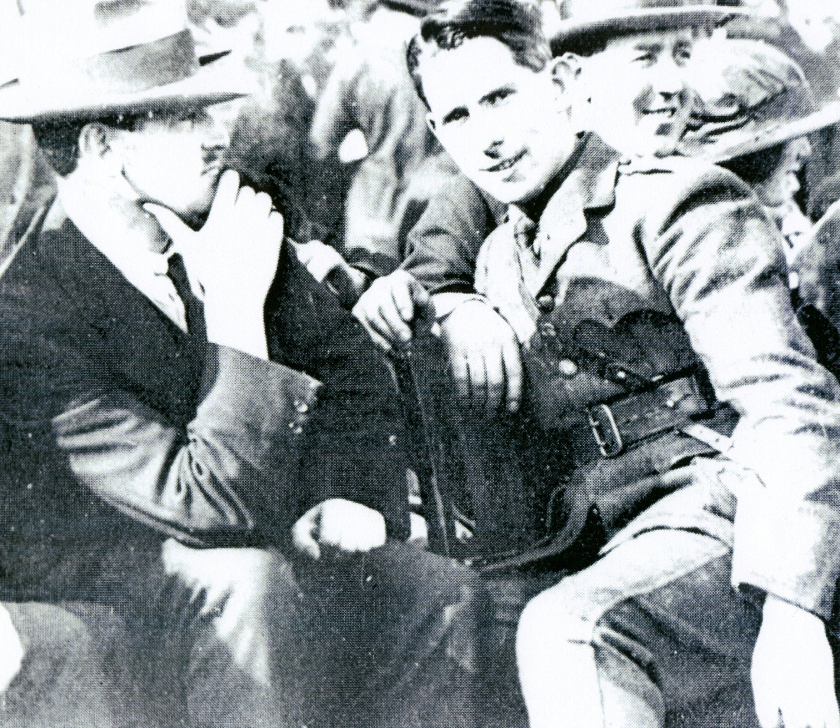 Michael Collins and General McKeown at Croke Park, 1921