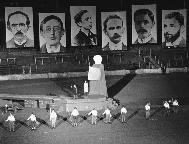 Aiséirí pageant taking place at Croke Park, 1966
