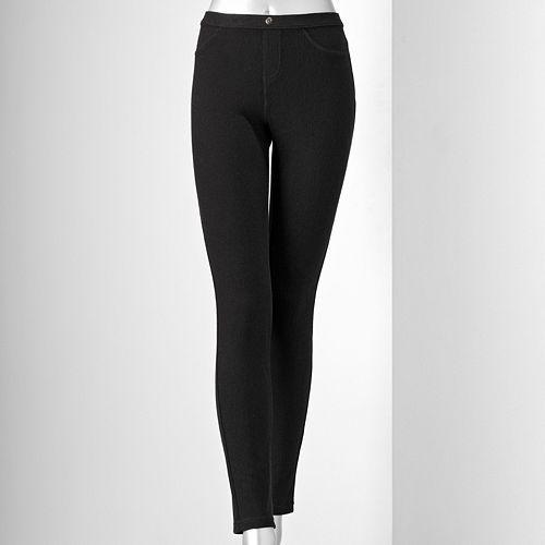 Vera wang twill leggings