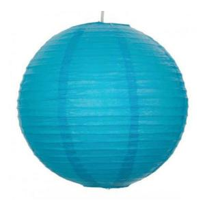 Turquoise Wired Lantern 30cm (3pp)