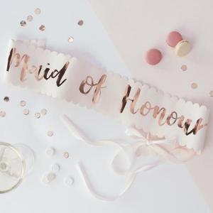 Team Bride Maid of Honour Sash