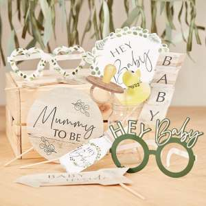 Botanical Baby Baby Shower Photo Booth Props