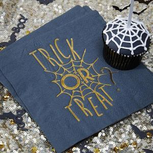 Trick or Treat - Gold Foiled Napkins (20)