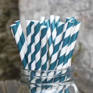 Teal Paper Straws (25)