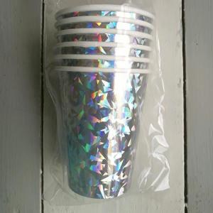 Silver Holographic Paper Cups (6)