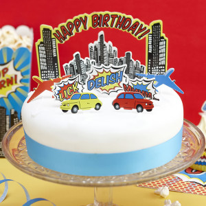 Pop Art Party Cake Decoration Kit