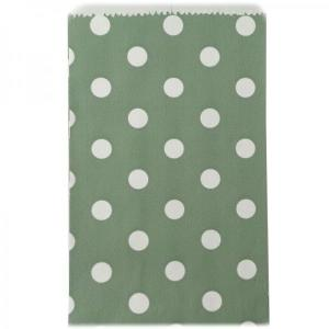 Sage Dotted Candy Bags (50) - SML