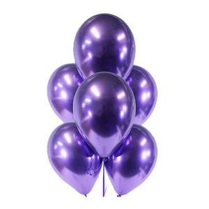 Purple Chrome Balloons (5)
