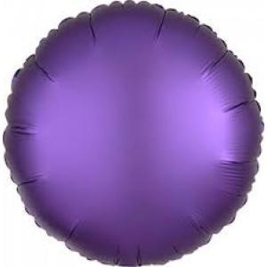 Satin Luxe Purple Royale Circle Foil Balloon 18inch