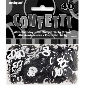 Rainbow Confetti 40th Birthday 18 inch foil balloon