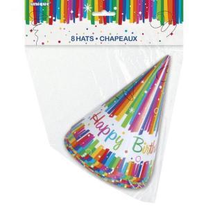 Rainbow Ribbon Party Hats (8)