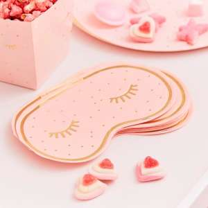 Pamper Party Pink Eye Mask Shaped Paper Serviettes (16)