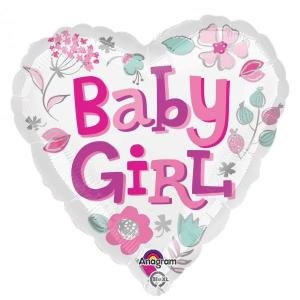Heart Baby Girl Balloon