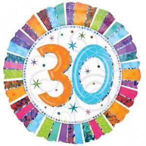 Happy 30th Birthday Radiant 18 inch Foil Balloon