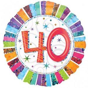 Happy 40th Birthday Radiant 18 inch Foil Balloon