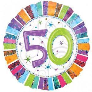 Happy 50th Birthday Radiant 18 inch Foil Balloon