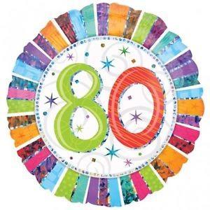 Happy 80th Birthday Radiant 18 inch Foil Balloon
