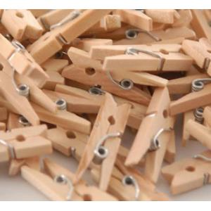 Wooden Pegs Natural 25mm ( 20)