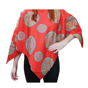 Mexican Poncho Adult Red Design