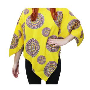 Mexican Poncho Adult Yellow Design