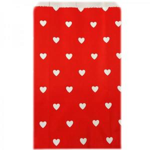 Red with Hearts Candy Bags (25)