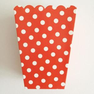 Red Dotted Popcorn Boxes Small (6)