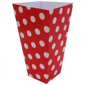 Red Dotted Popcorn Boxes (10)