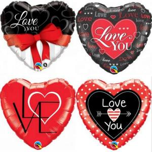 Assorted Valentines day foil Balloons 18 inch (Qualatex)