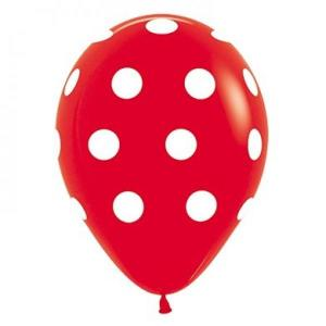 Red Dotted Balloons (5)