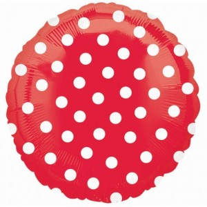 Red Dotted Foil Balloon