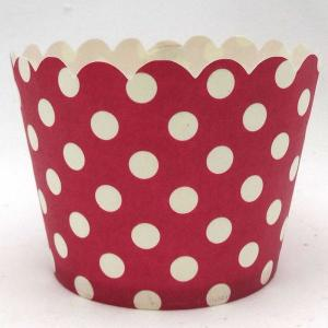 Red Dotted Baking Cup (50)