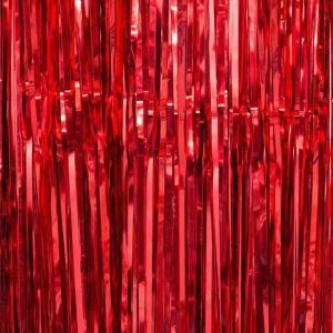 Red Foil Fringe Backdrop