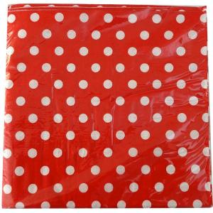 Red Dotted Serviettes (12)