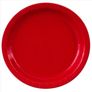 Red Paper Plates Large (8)