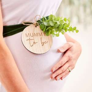 Botanical Baby Mummy To Be Belly Sash