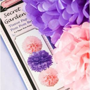 Secret Garden Paper Pom Poms (3)