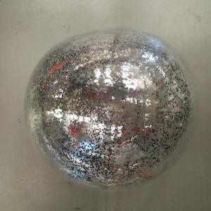 PVC Balloon with Silver glitter confetti