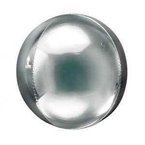 Silver Orbz Balloon 18 inch
