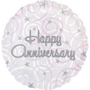 Happy Anniversary Swirls Balloon