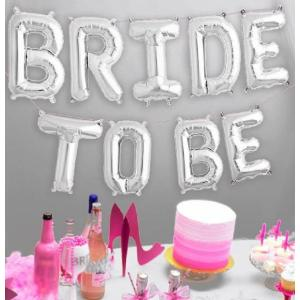 Bride to Be Silver Foil Balloon Kit