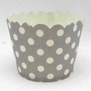 Grey Dotted Baking Cups (50)