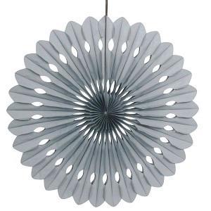 Silver Decorative Fan