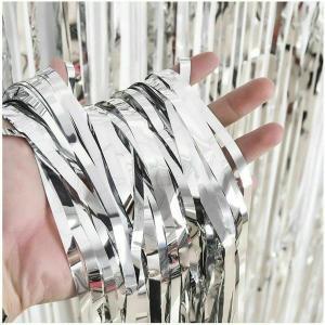 Silver Foil Fringe Backdrop