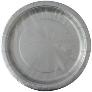 Silver Paper Plates Large (8)