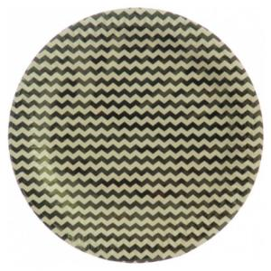 Silver  Chevron Paper Plates (10)