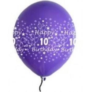 Happy 10th Birthday Balloons Girl Shades (5)
