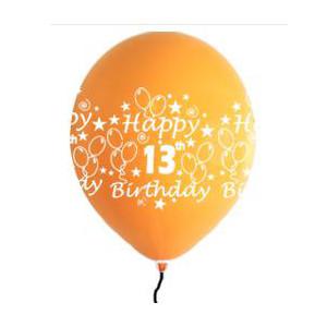 Happy 13th Birthday Balloons Boy Shades (5)