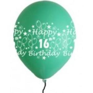 Happy 16th Birthday Balloons Girl Shades (5)