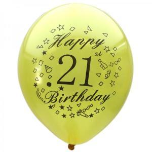 Gold Happy 21st Birthday Balloons (15)
