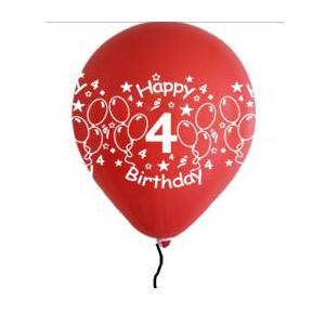 Happy 4th Birthday Balloons  Boy Shades (5)